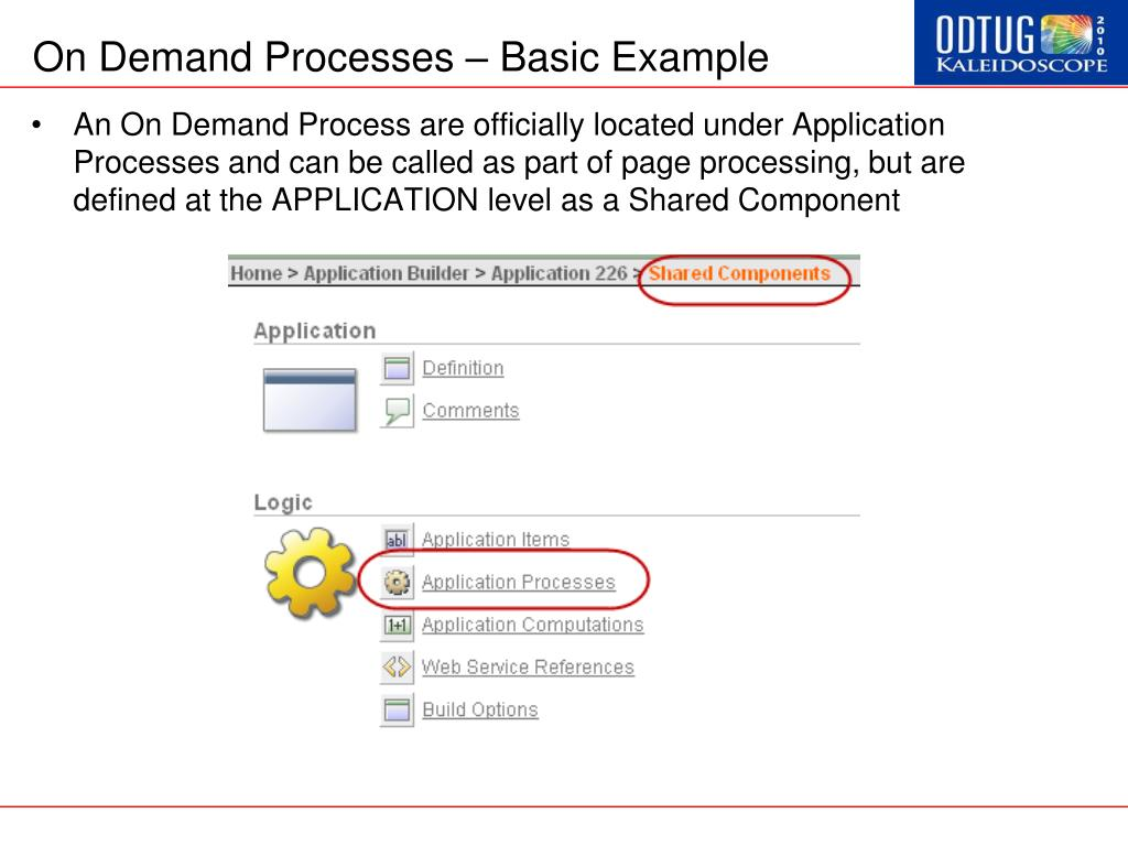 On Demand Processes – Basic Example