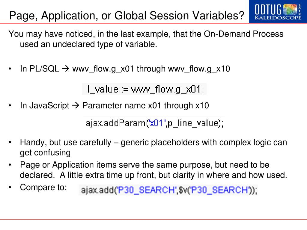Page, Application, or Global Session Variables?