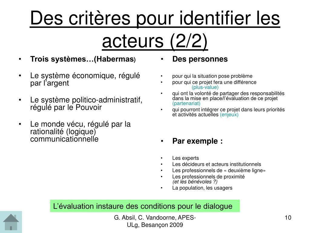 Trois systèmes…(Habermas
