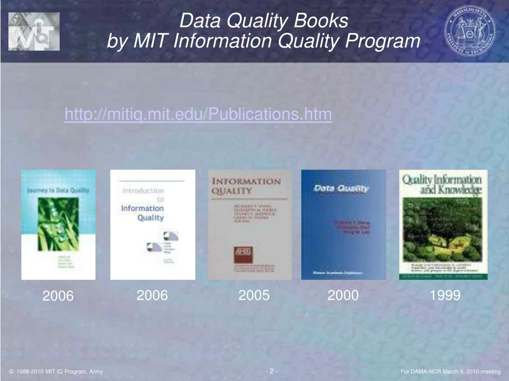 Data Quality Books