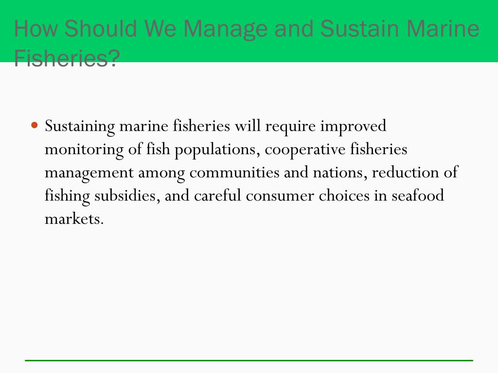 How Should We Manage and Sustain Marine Fisheries?