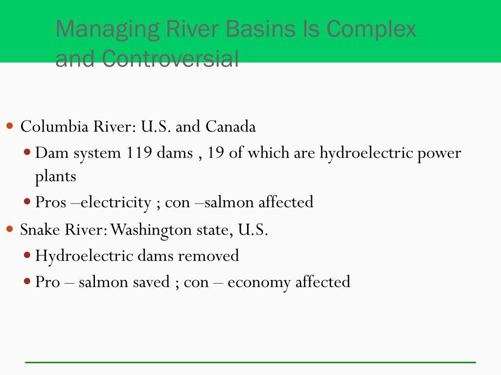 Managing River Basins Is Complex