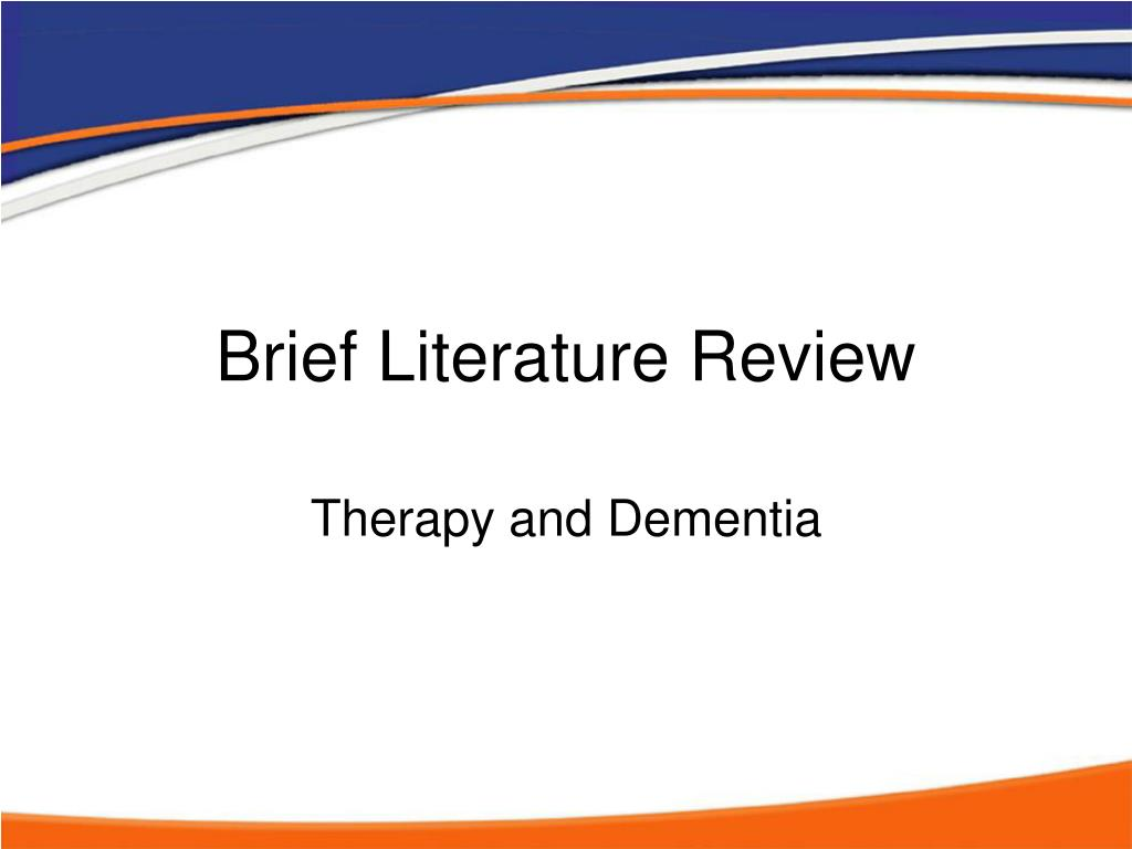 Brief Literature Review