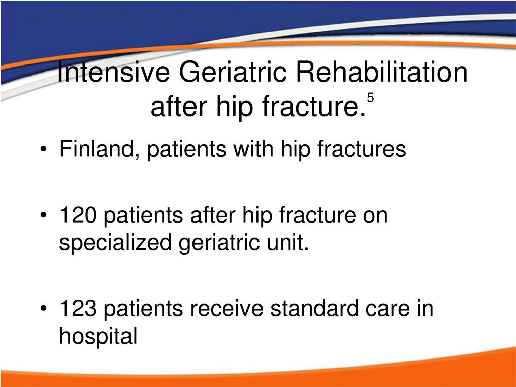 Intensive Geriatric Rehabilitation after hip fracture.