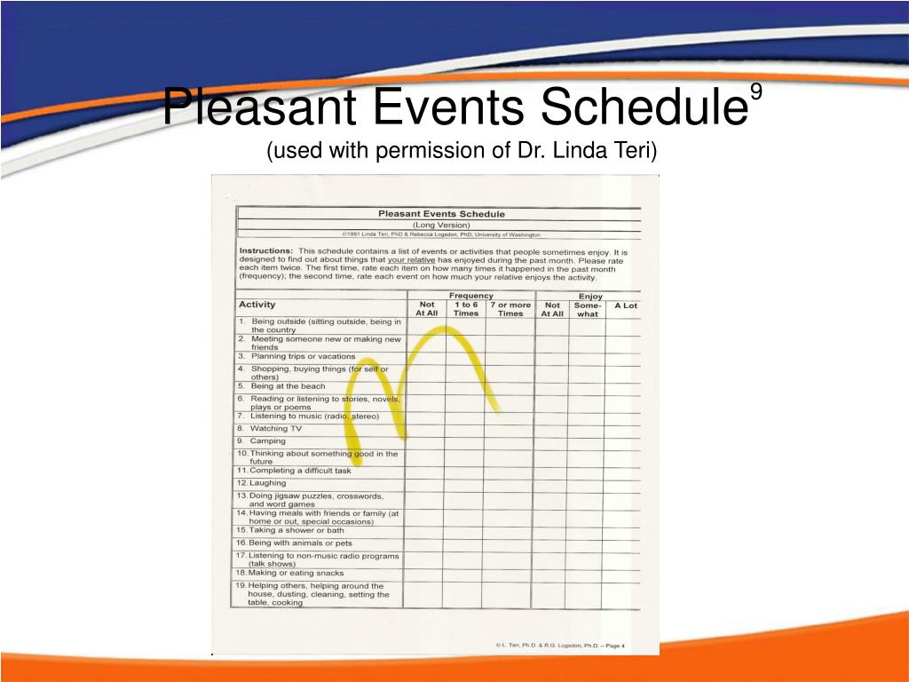 Pleasant Events Schedule