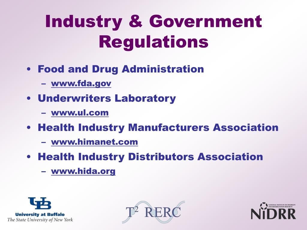 Industry & Government Regulations