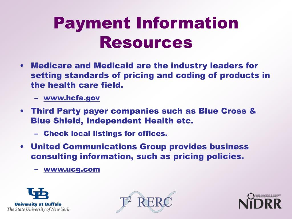 Payment Information Resources