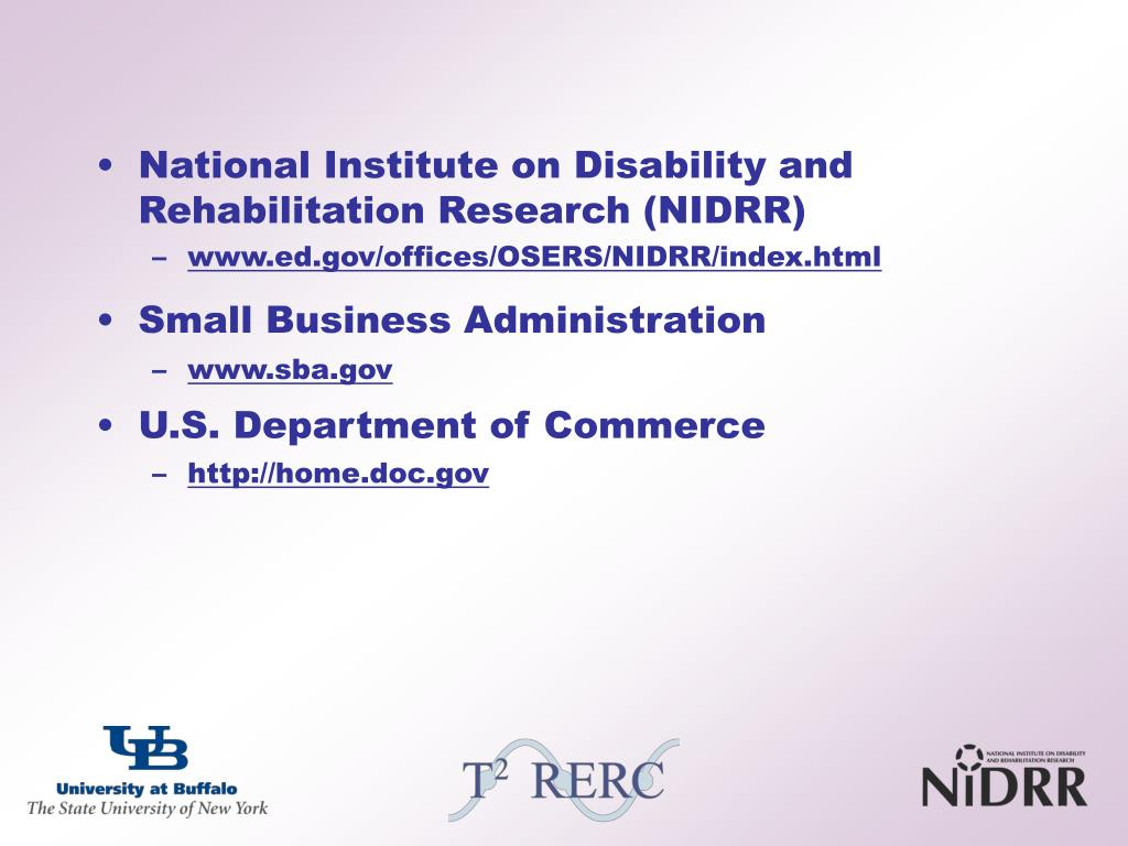 National Institute on Disability and Rehabilitation Research (NIDRR)