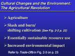 cultural changes and the environment the agricultural revolution