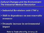 cultural changes and the environment the industrial medical revolution