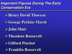 important figures during the early conservation era