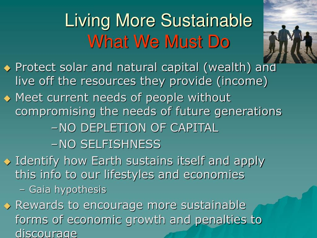 Living More Sustainable
