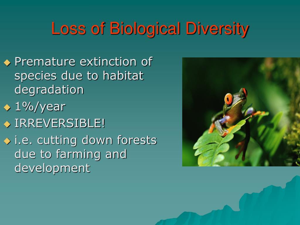 Loss of Biological Diversity