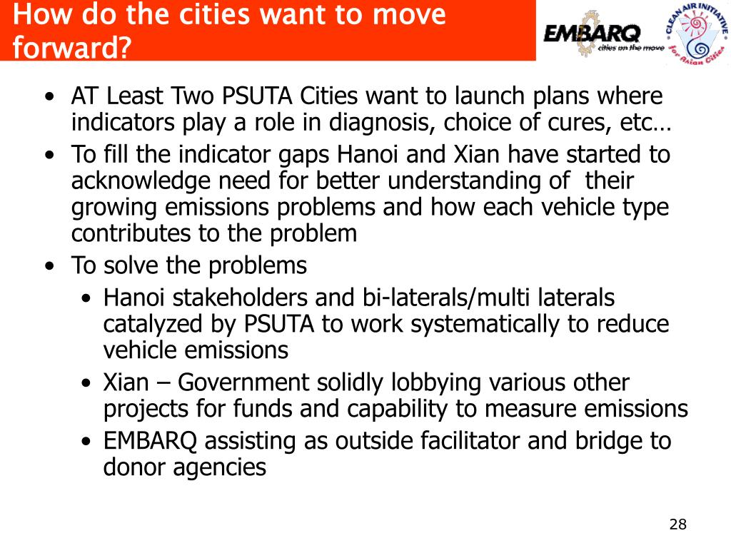 How do the cities want to move forward?