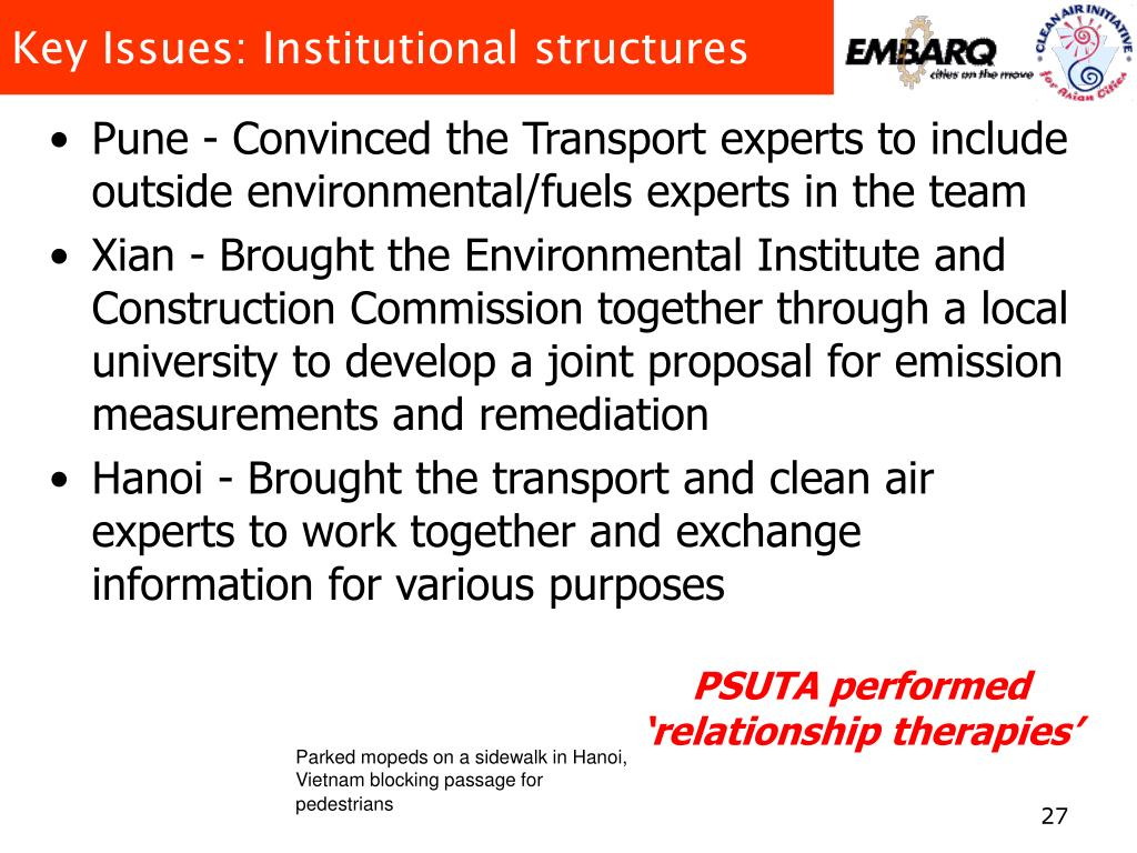 Key Issues: Institutional structures