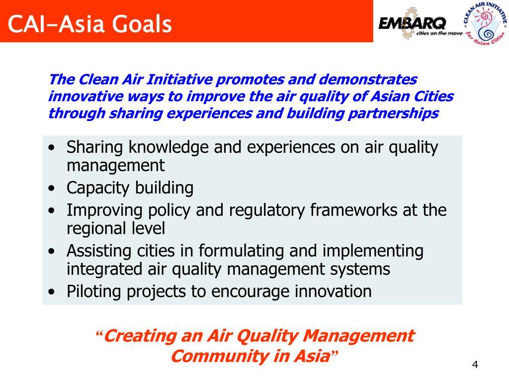 CAI-Asia Goals