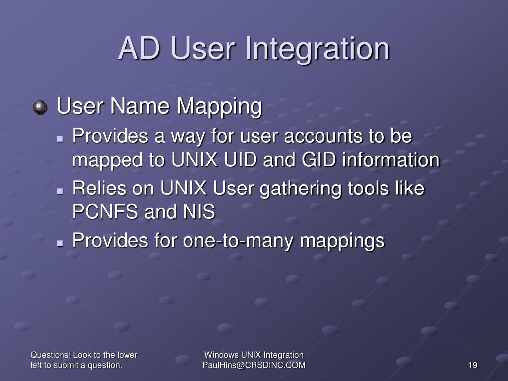 AD User Integration