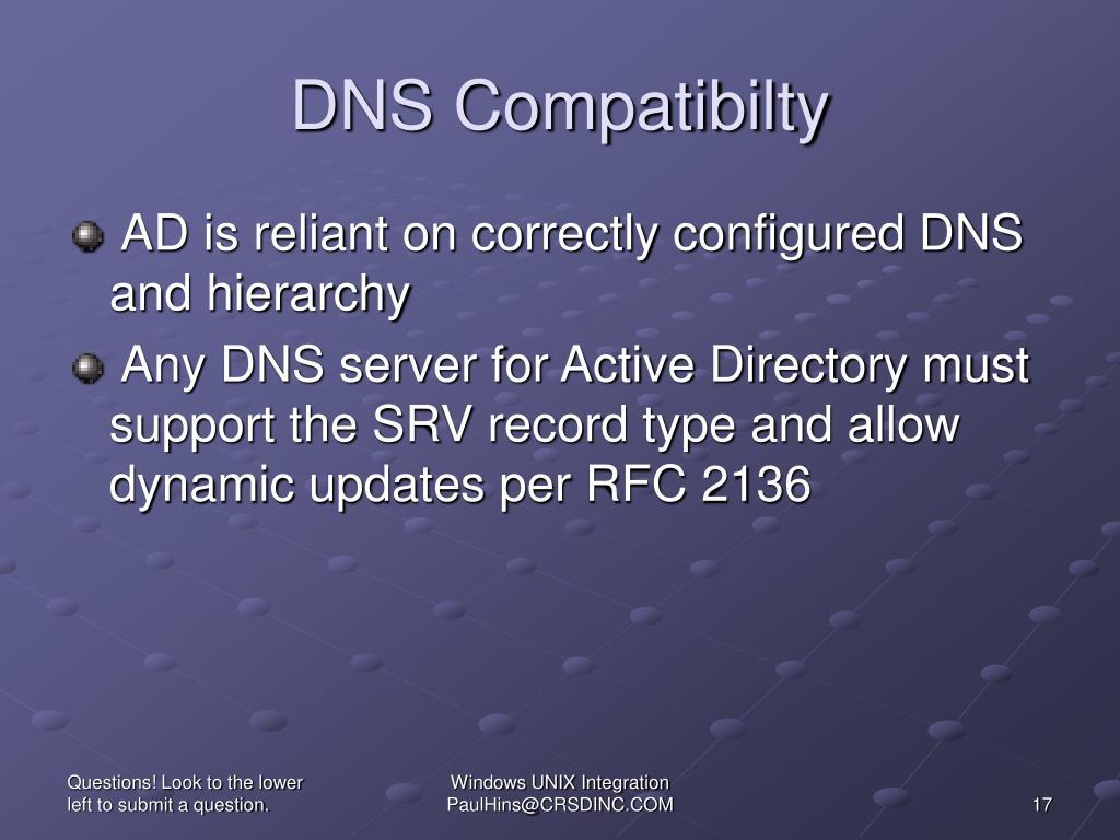 DNS Compatibilty