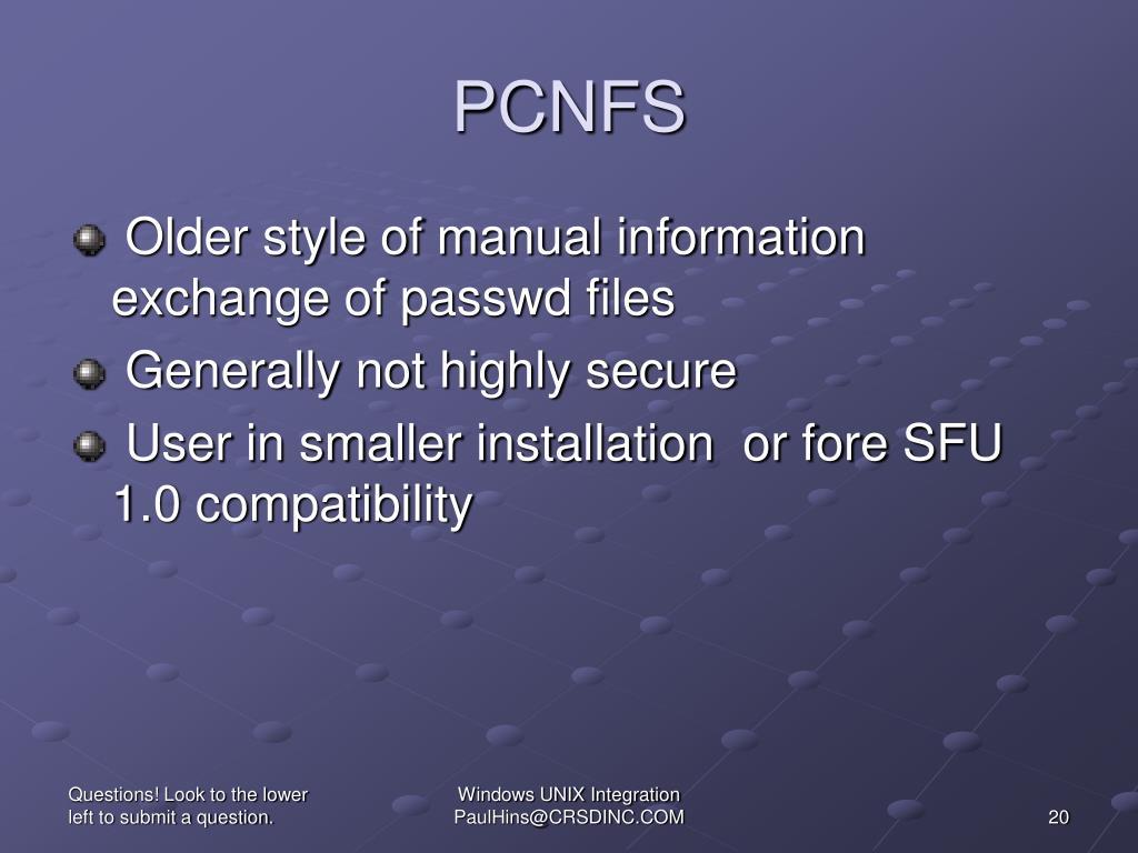 PCNFS