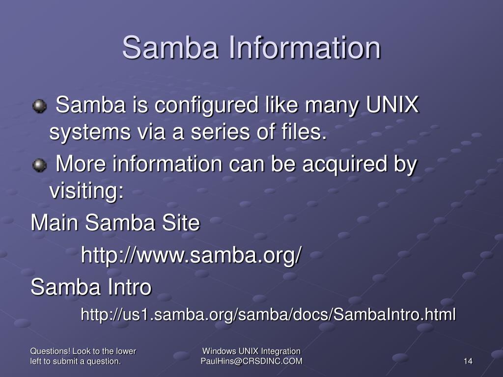 Samba Information