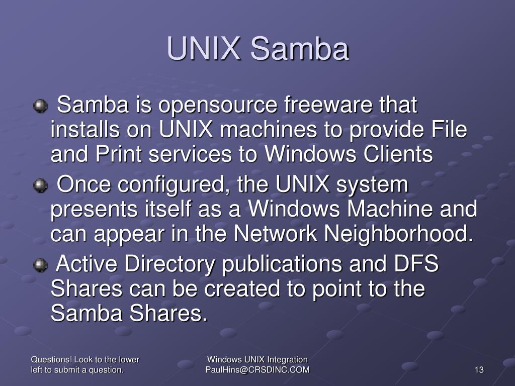 UNIX Samba
