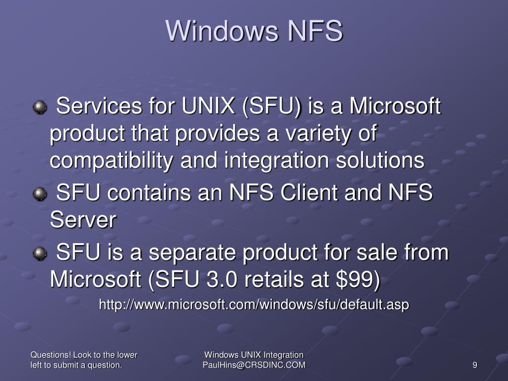 Windows NFS