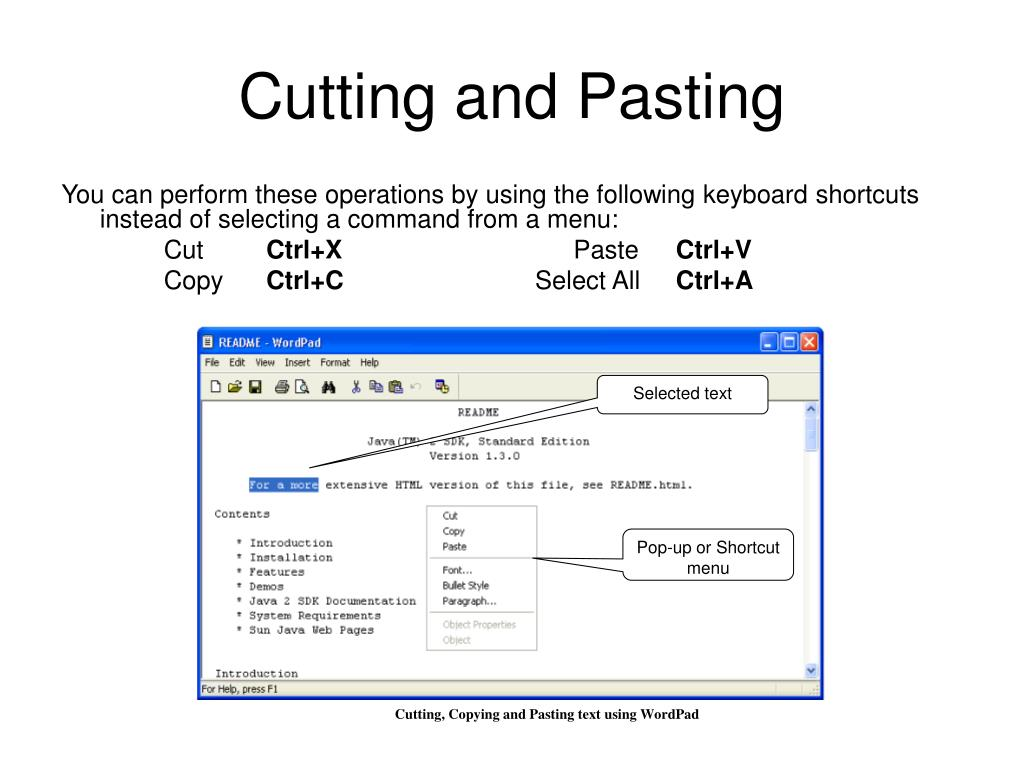 Cutting and Pasting