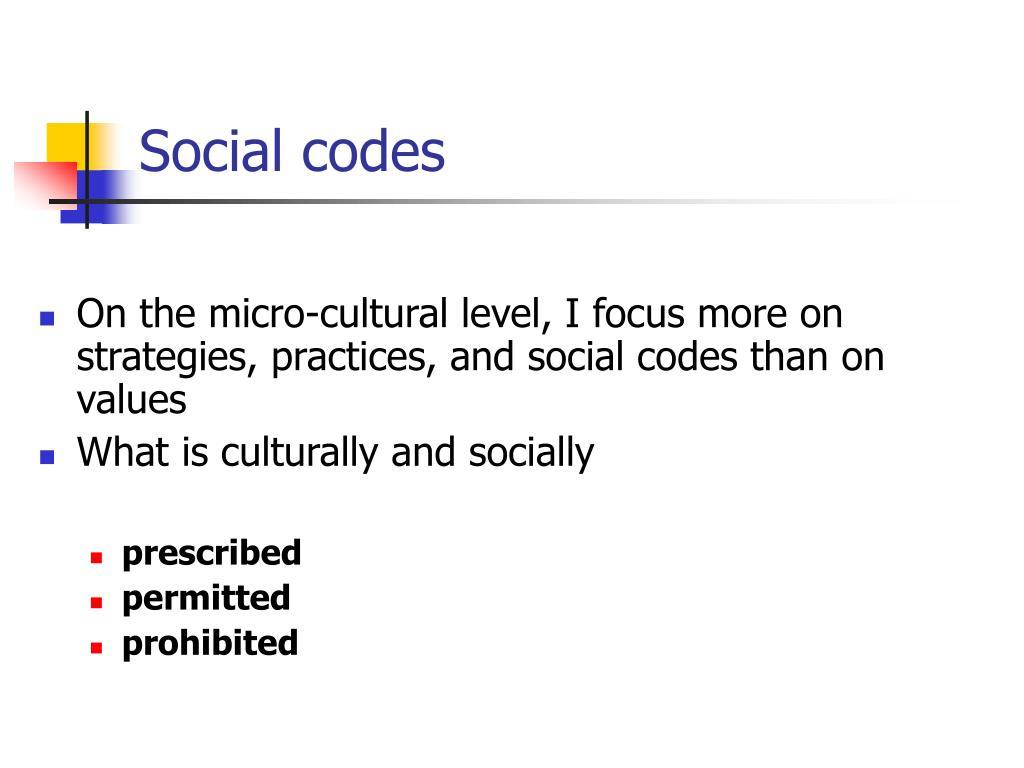 Social codes