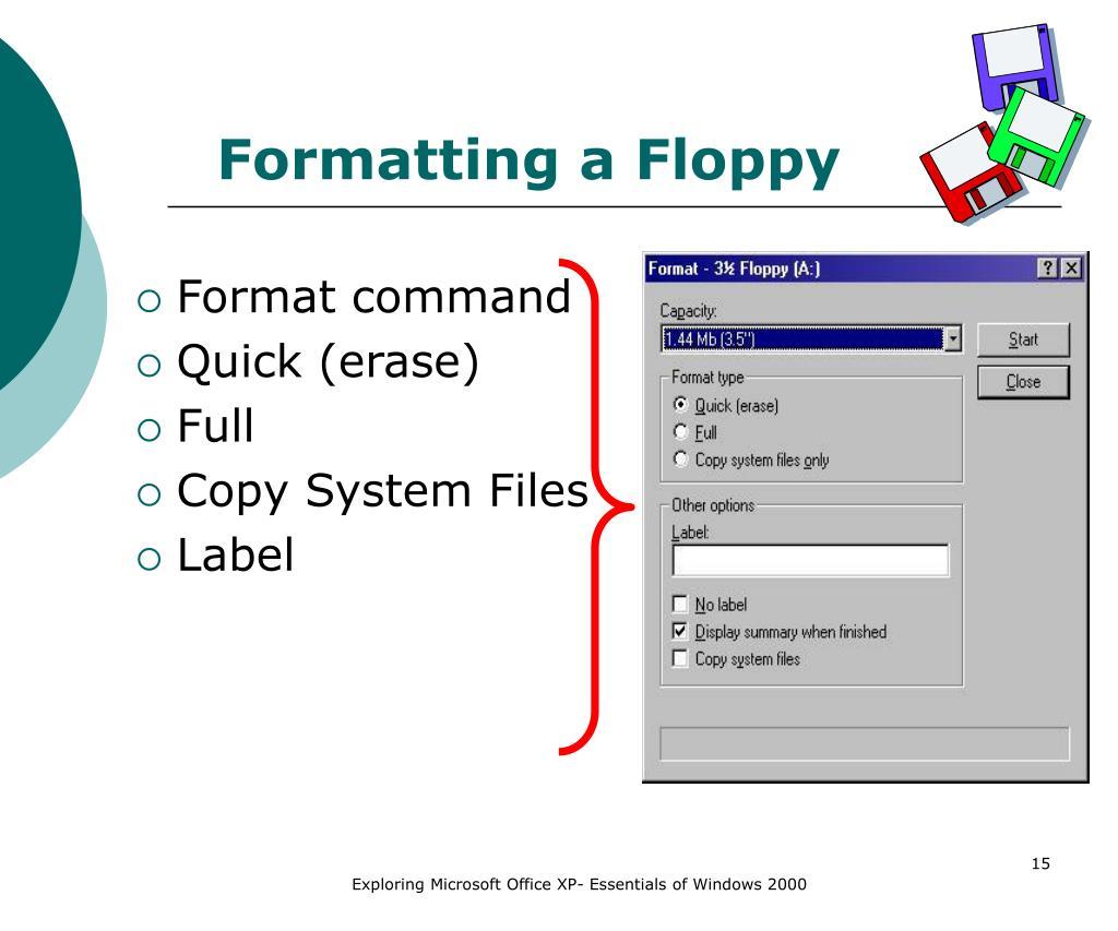Formatting a Floppy