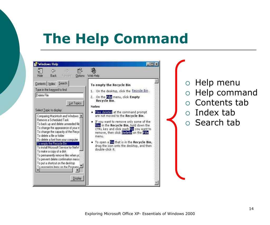 The Help Command