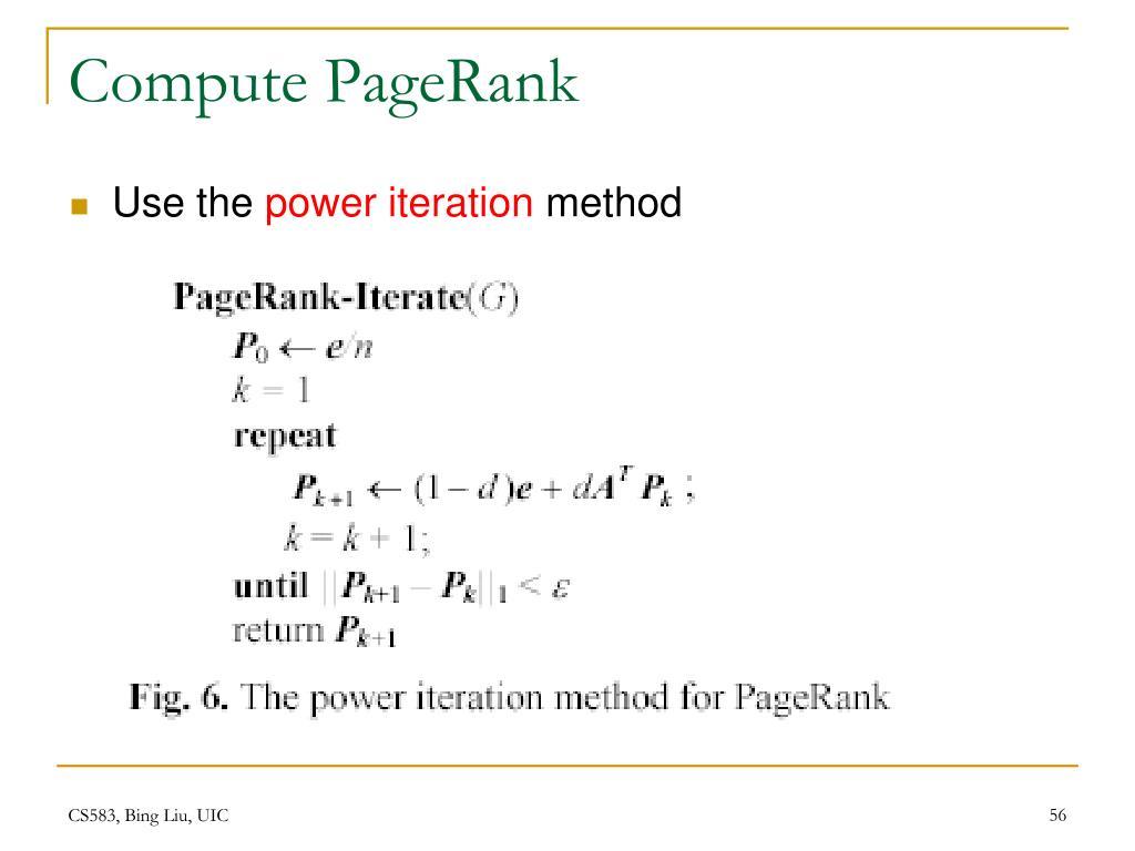 Compute PageRank