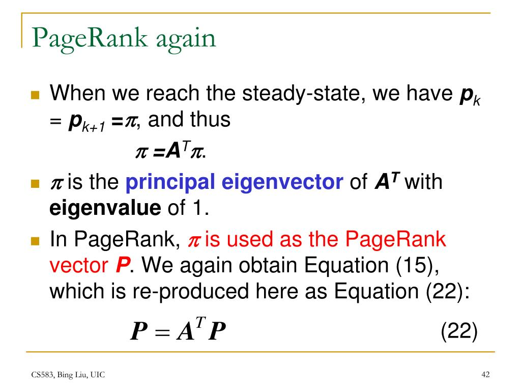 PageRank again