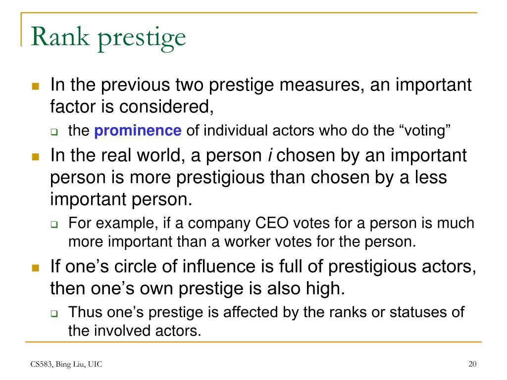 Rank prestige