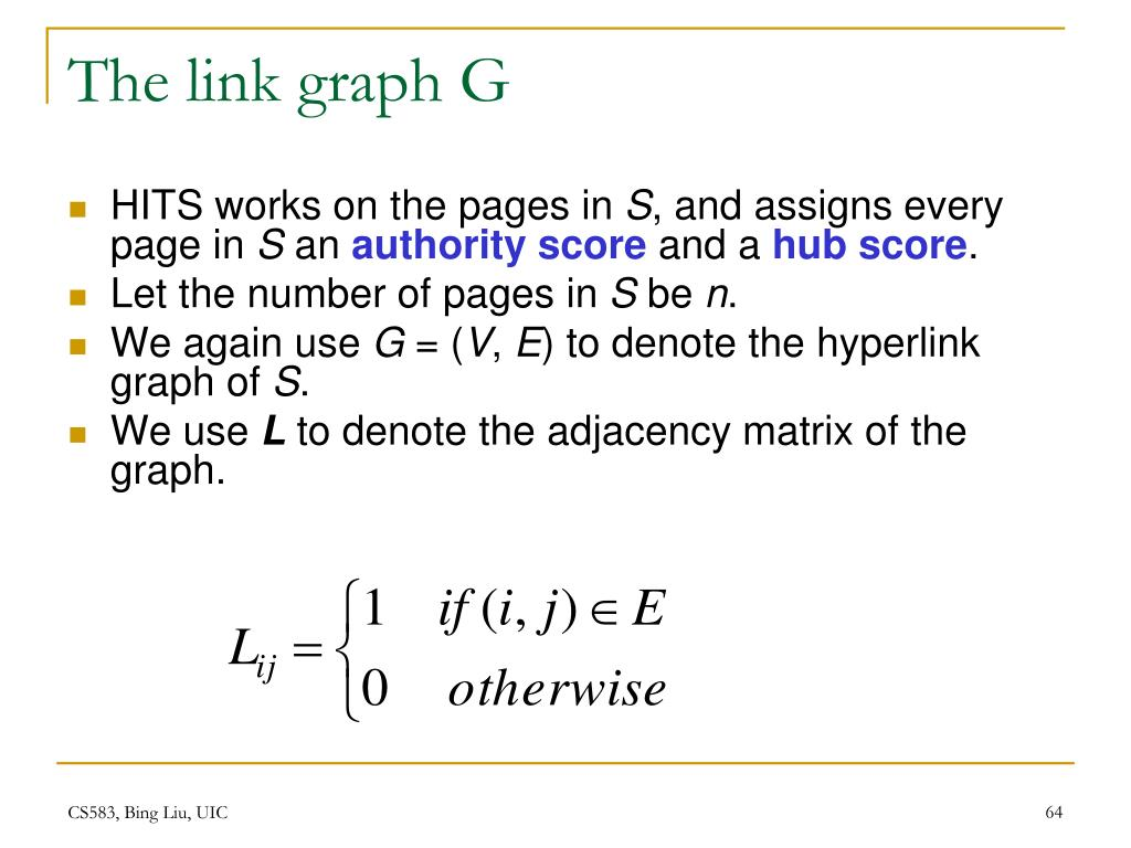 The link graph G