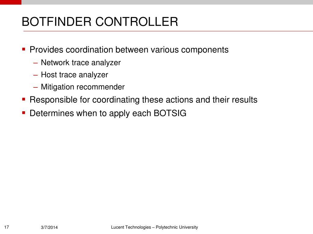 BOTFINDER CONTROLLER