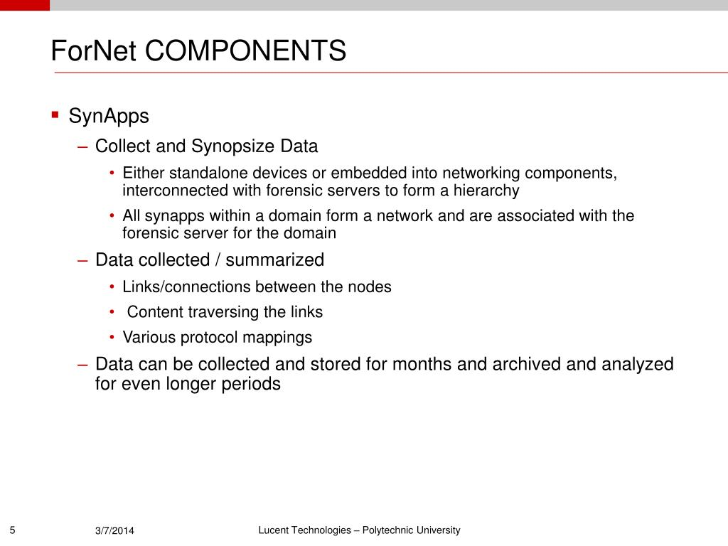 ForNet COMPONENTS