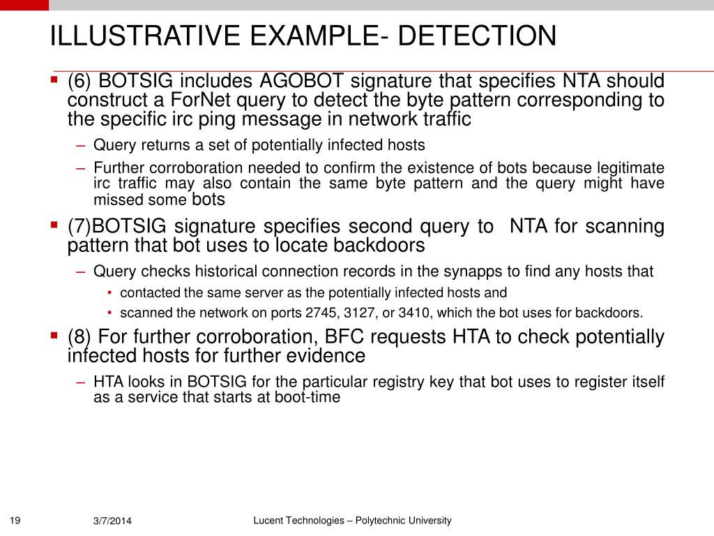 ILLUSTRATIVE EXAMPLE- DETECTION