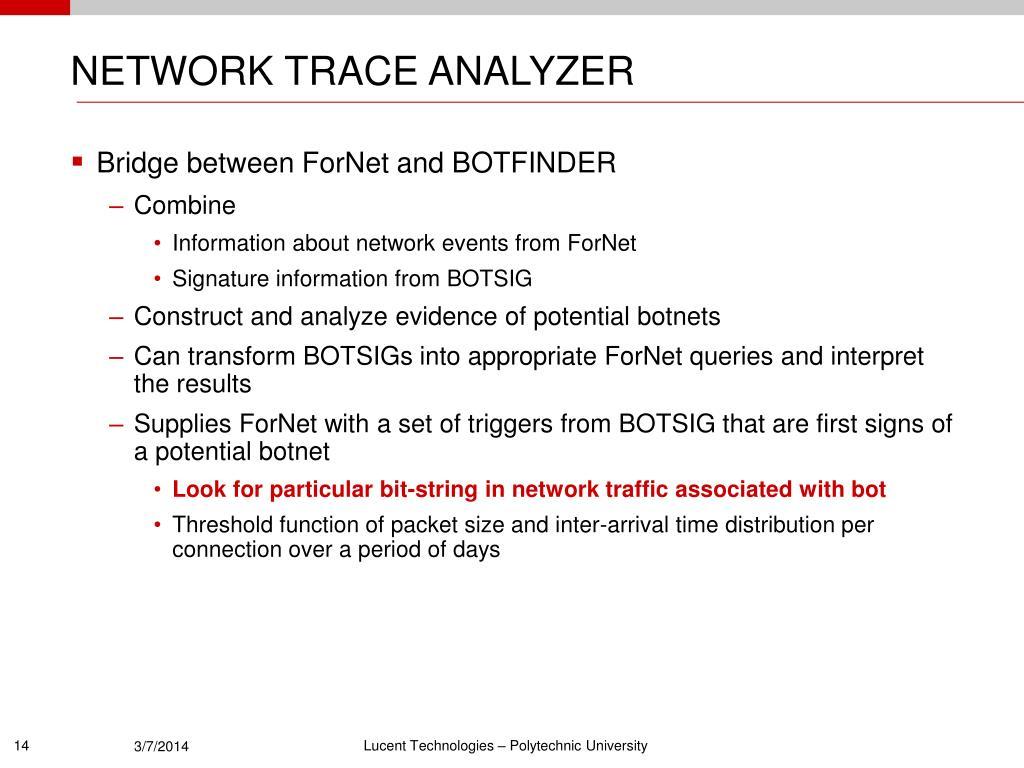 NETWORK TRACE ANALYZER