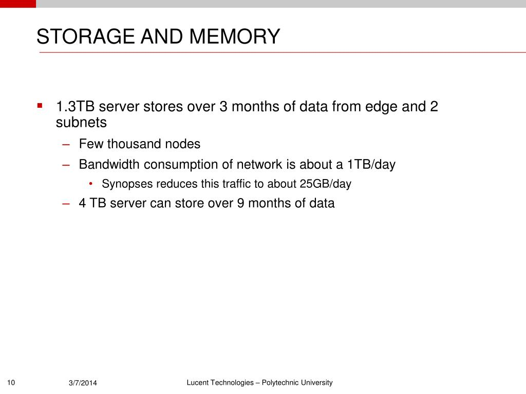 STORAGE AND MEMORY