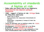 accountability et standards a nation at risk