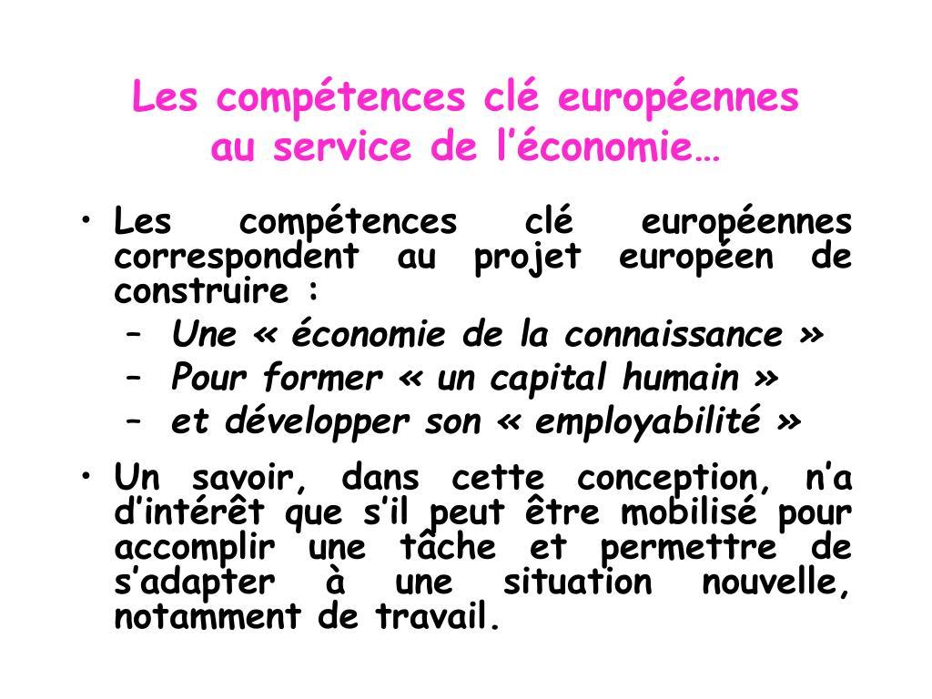 Les compétences clé européennes