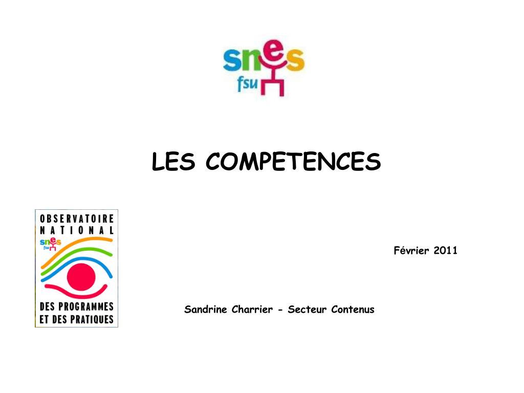les competences