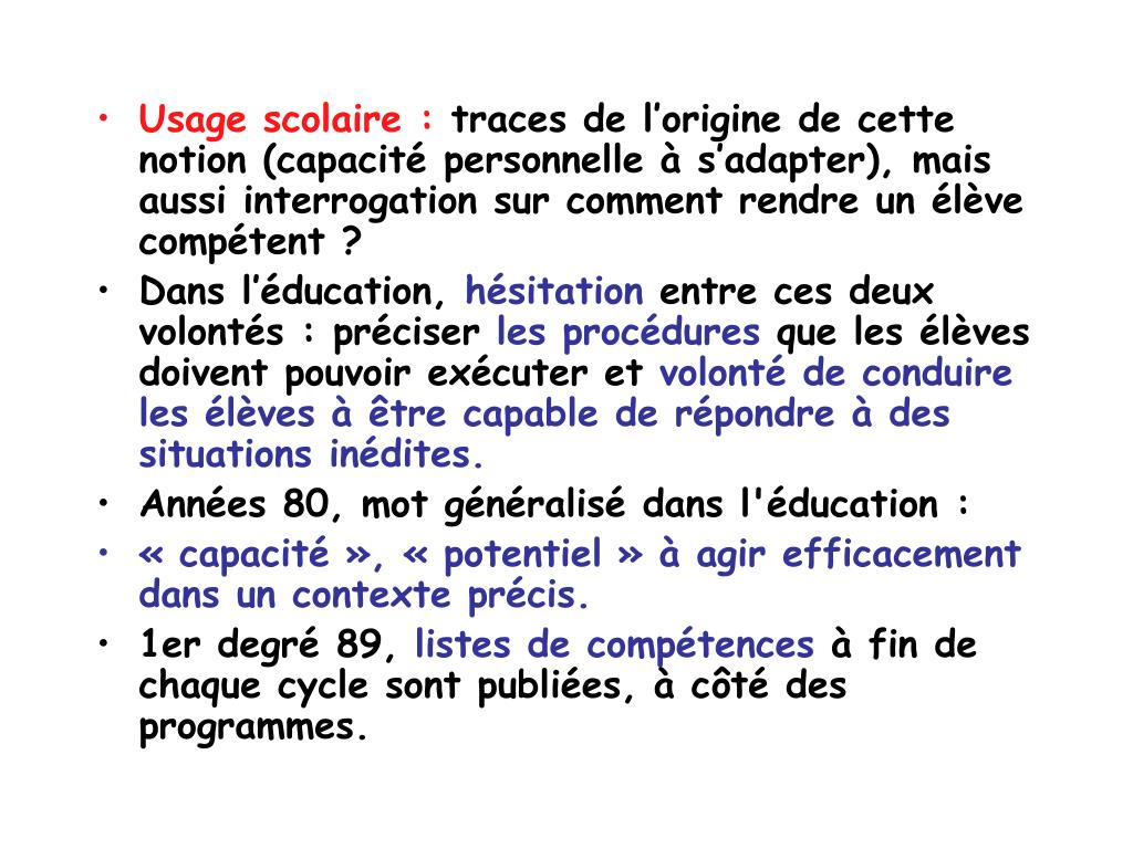 Usage scolaire :