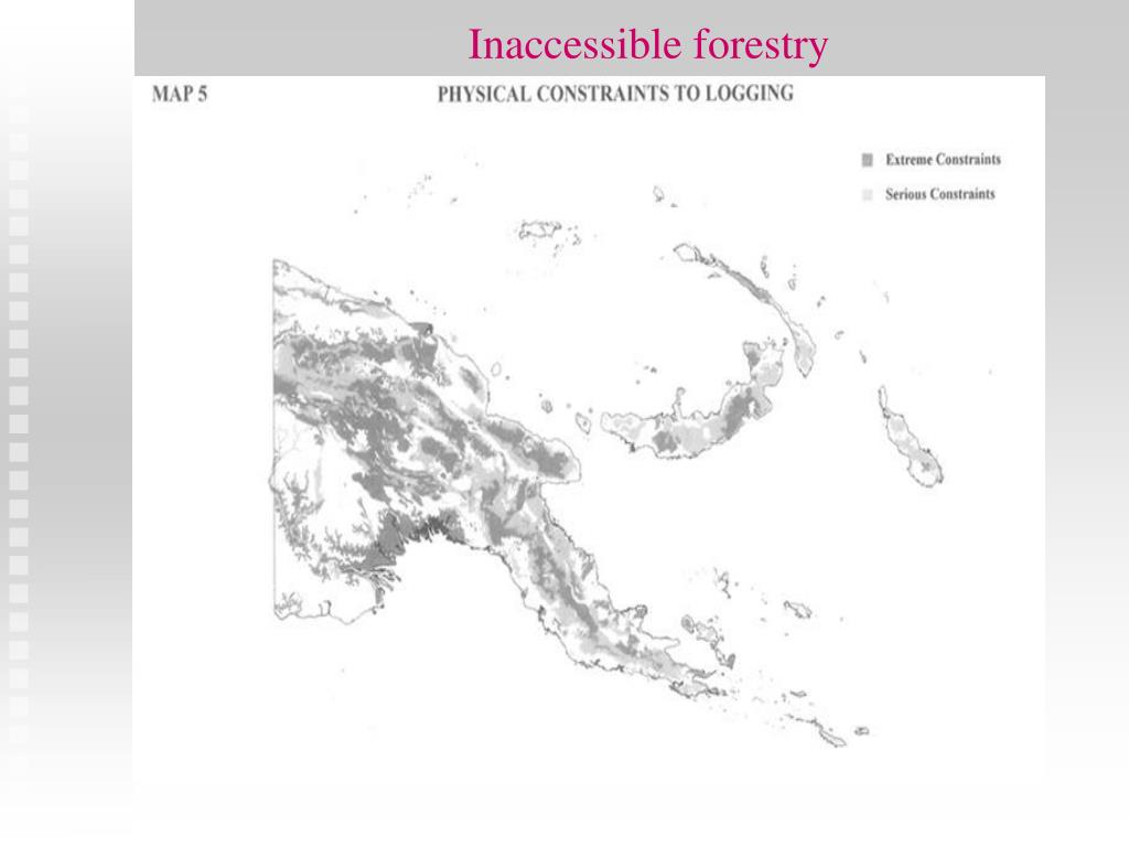 Inaccessible forestry