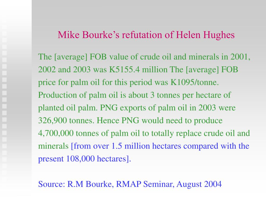 Mike Bourke's refutation of Helen Hughes