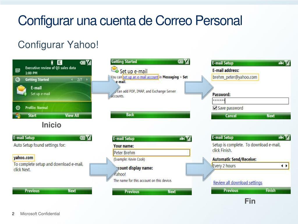 Configurar una cuenta de Correo Personal