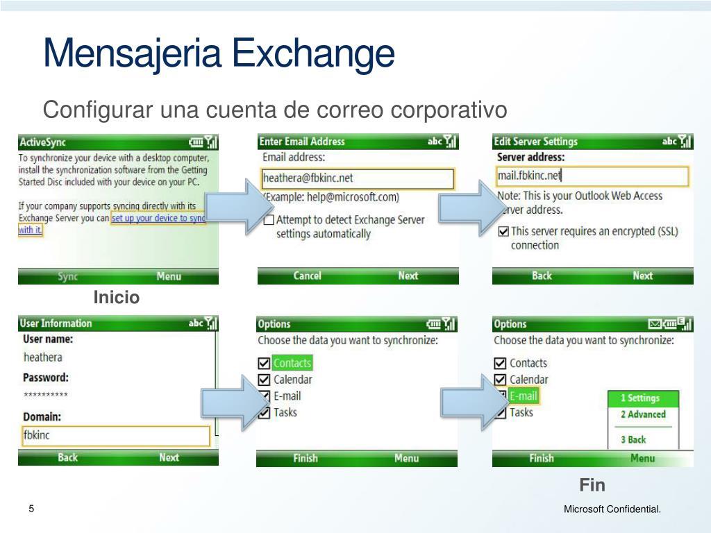 Mensajeria Exchange