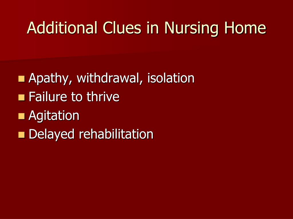 Additional Clues in Nursing Home