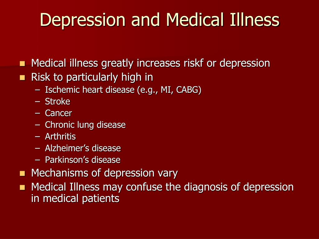 Depression and Medical Illness