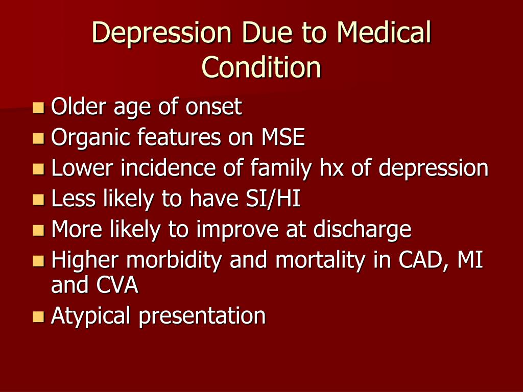 Depression Due to Medical Condition